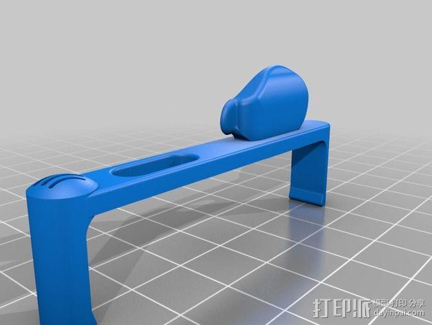iPhone5手机框扩音器 3D模型  图3