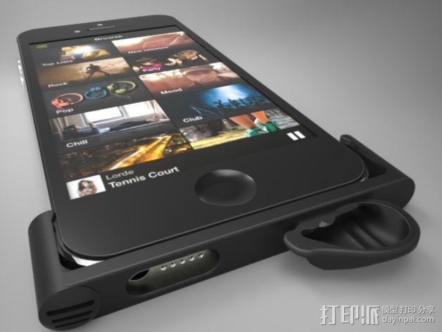 iPhone5手机框扩音器 3D模型  图2