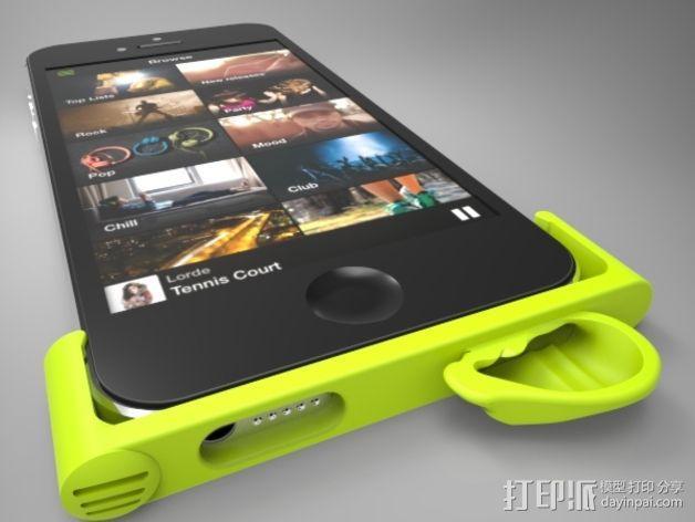 iPhone5手机框扩音器 3D模型  图4
