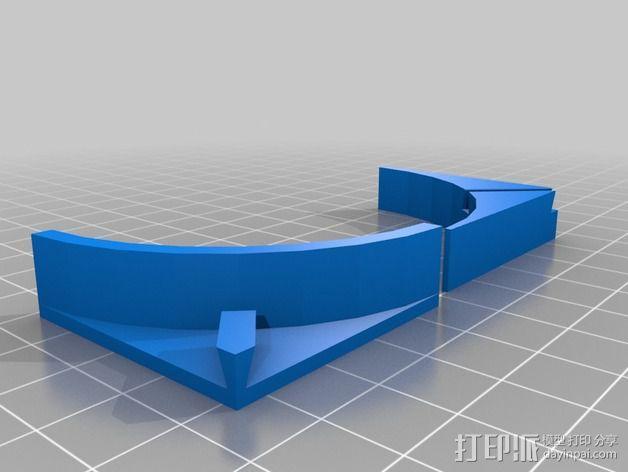 纸夹 立体支架 3D模型  图2