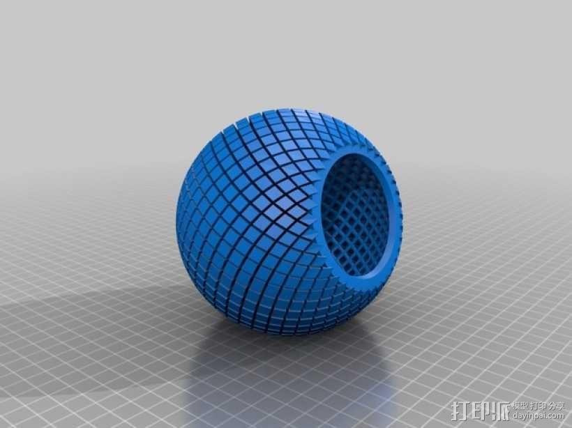 水晶球音箱 3D模型  图2