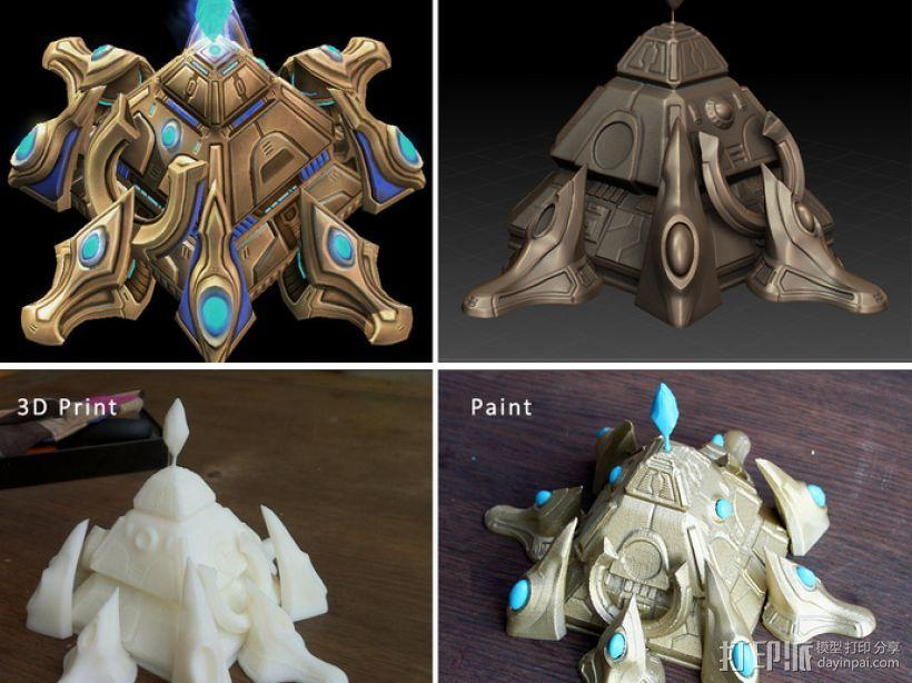 星际争霸神族基地 3D模型  图3