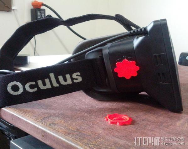 虚拟现实头戴显示器聚焦旋钮 3D模型  图1