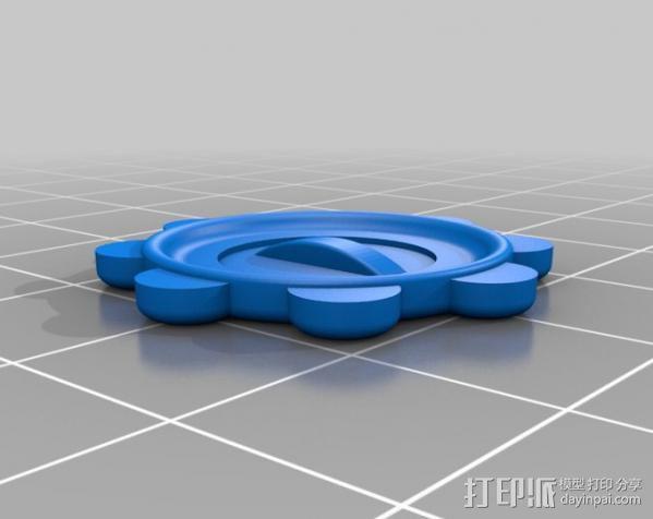 虚拟现实头戴显示器聚焦旋钮 3D模型  图2