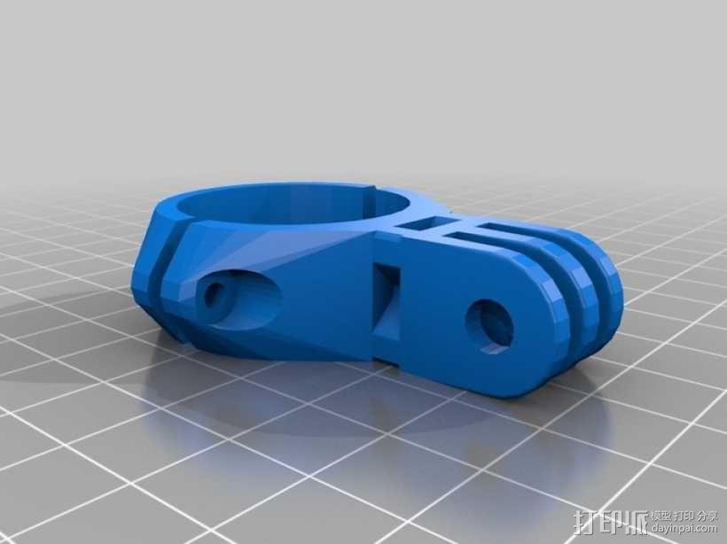 gopro 相机支撑座夹环 3D模型  图1