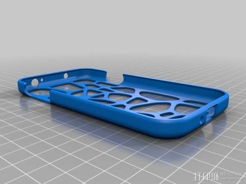 网状三星Galaxy S4手机套 3D模型  图2