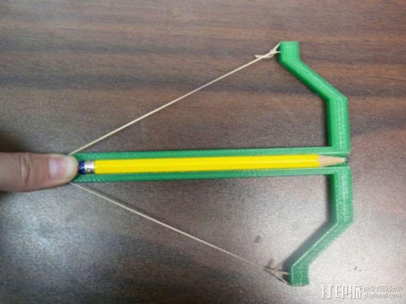 铅笔弓 玩具弓箭 3D模型  图1