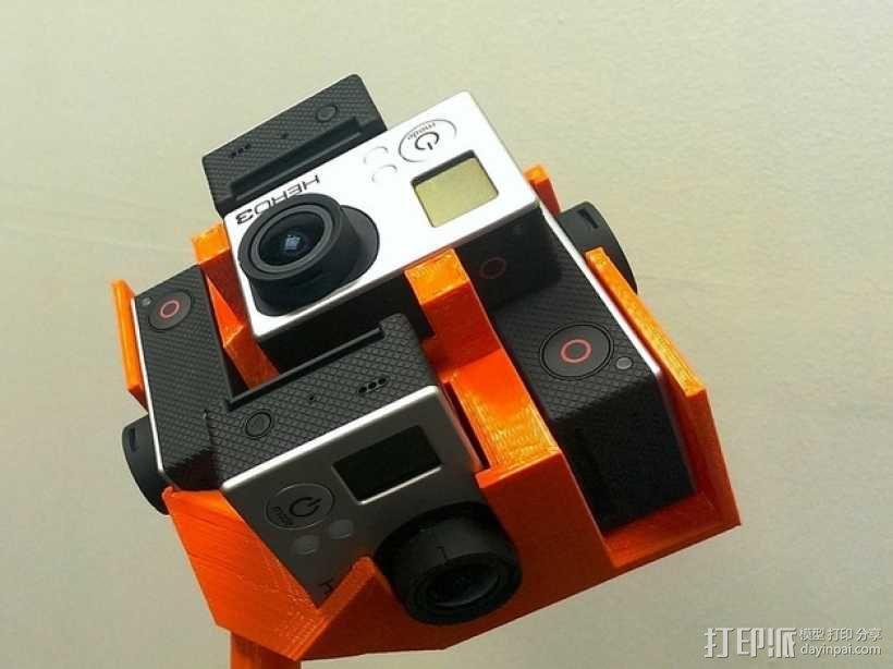 GoPro Hero 3相机框 相机盒 3D模型  图1