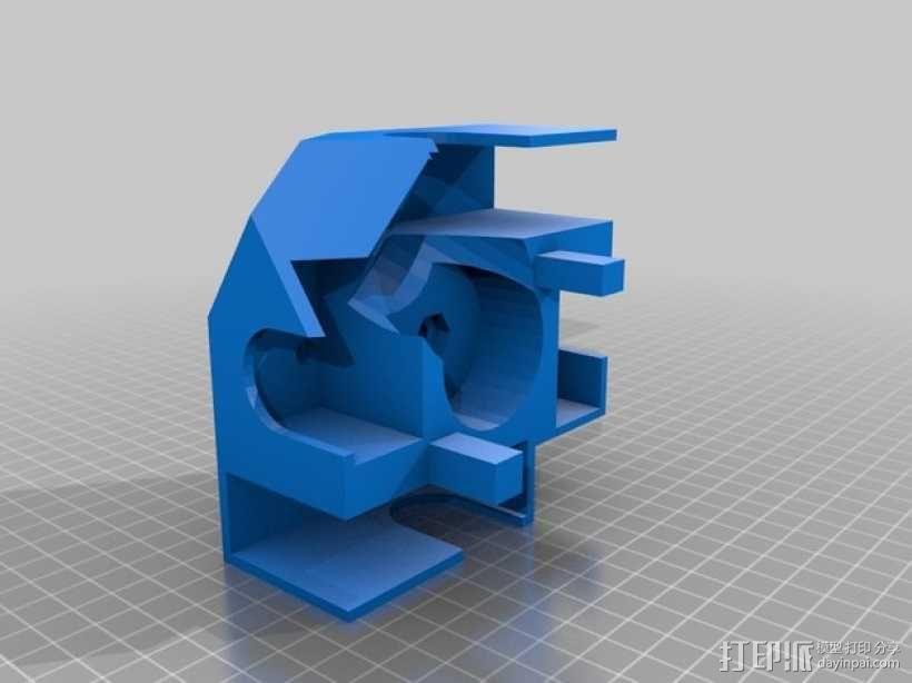 GoPro Hero 3相机框 相机盒 3D模型  图2