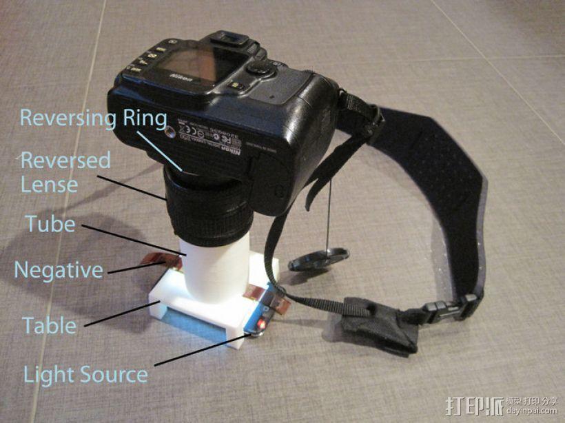 尼康相机胶片扫描仪 3D模型  图2