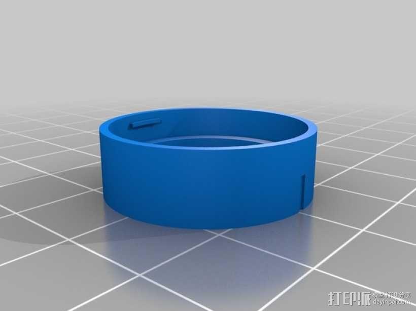 GoPro Hero3 相机镜头盖 3D模型  图2