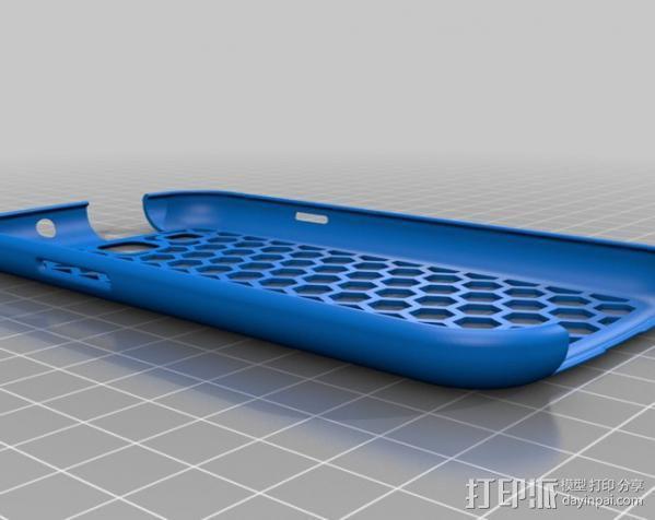 蜂巢式三星Galaxy S3 手机壳 3D模型  图1