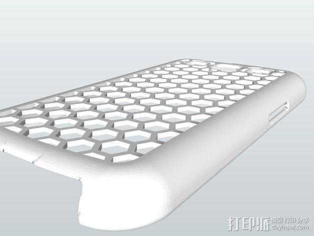 蜂巢式三星Galaxy S3 手机壳 3D模型  图2