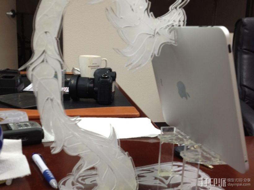 龙形平板电脑支撑架 3D模型  图5