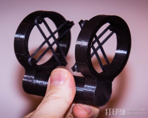 麦克风减震器 防震架 3D模型  图2