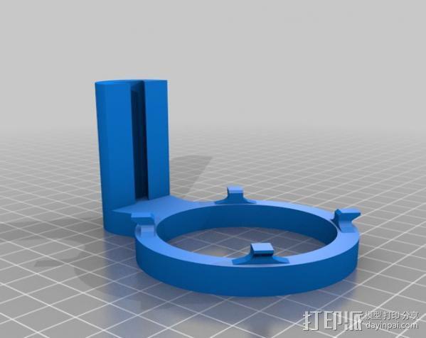 麦克风减震器 防震架 3D模型  图3