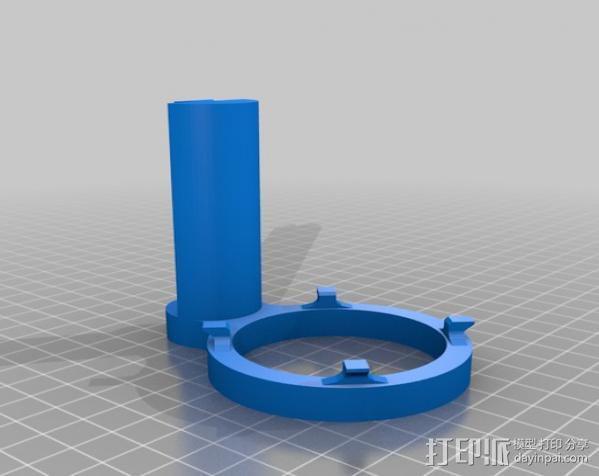 麦克风减震器 防震架 3D模型  图6