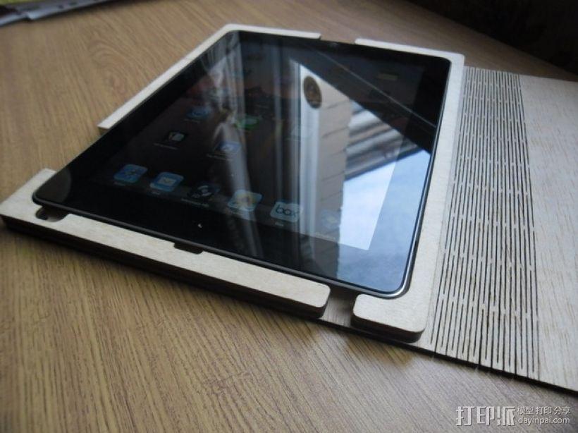 木质iPad平板电脑外壳 3D模型  图1