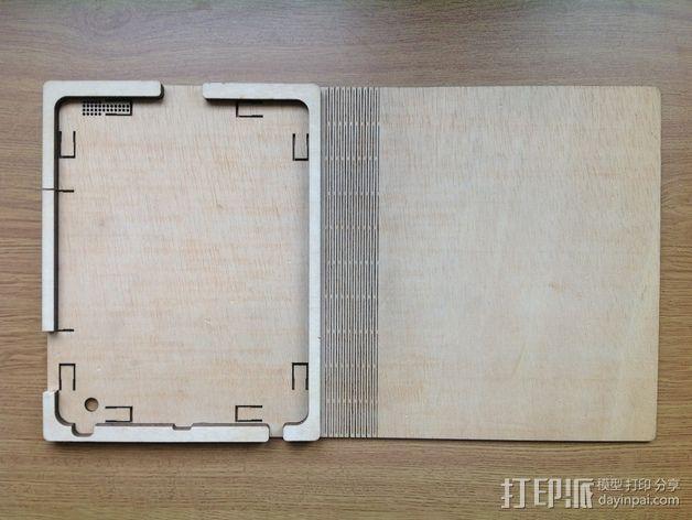 木质iPad平板电脑外壳 3D模型  图3
