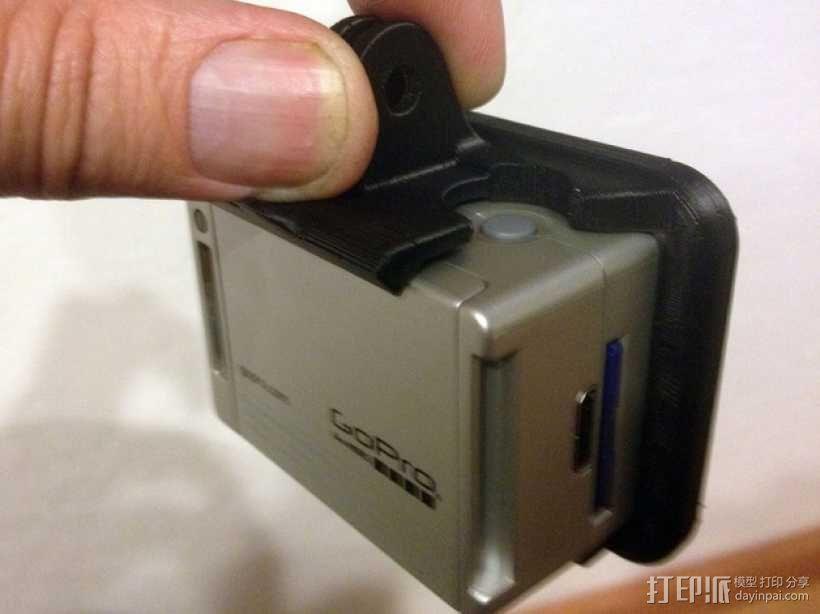 GoPro Hero 2相机保护框夹子 3D模型  图5