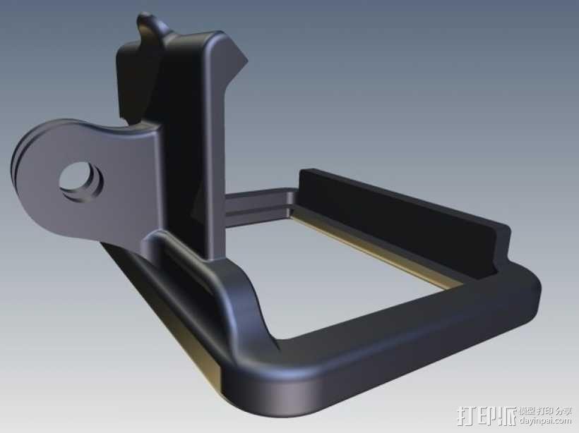 GoPro Hero 2相机保护框夹子 3D模型  图4