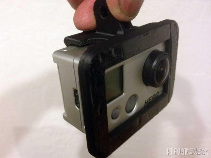 GoPro Hero 2相机保护框夹子 3D模型  图6