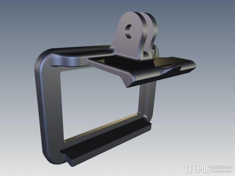 GoPro Hero 2相机保护框夹子 3D模型  图3