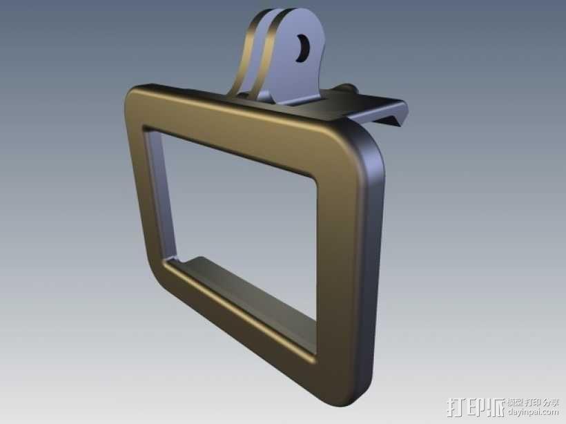 GoPro Hero 2相机保护框夹子 3D模型  图1