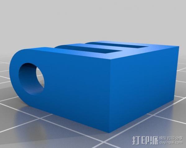 GoPro相机底座连接器 3D模型  图1