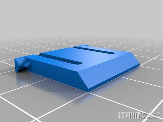 Logitech K360无线键盘支撑腿 3D模型  图1
