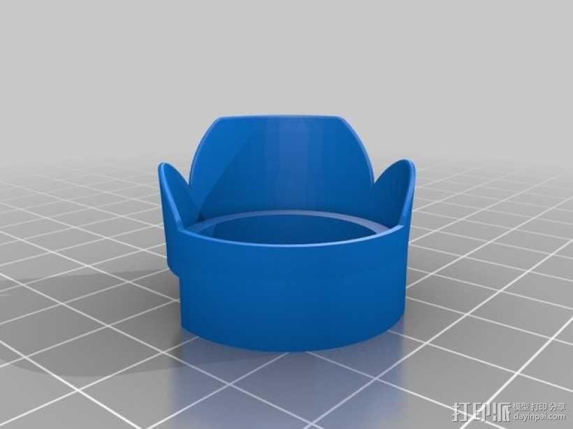gopro hero 3+相机镜头遮光罩 3D模型  图1