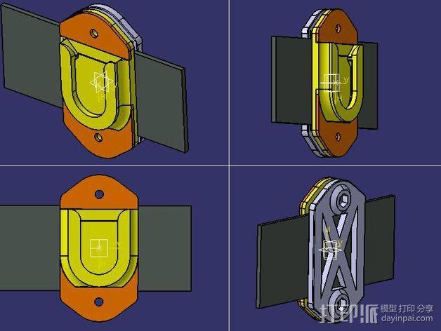相机固定架 3D模型  图1