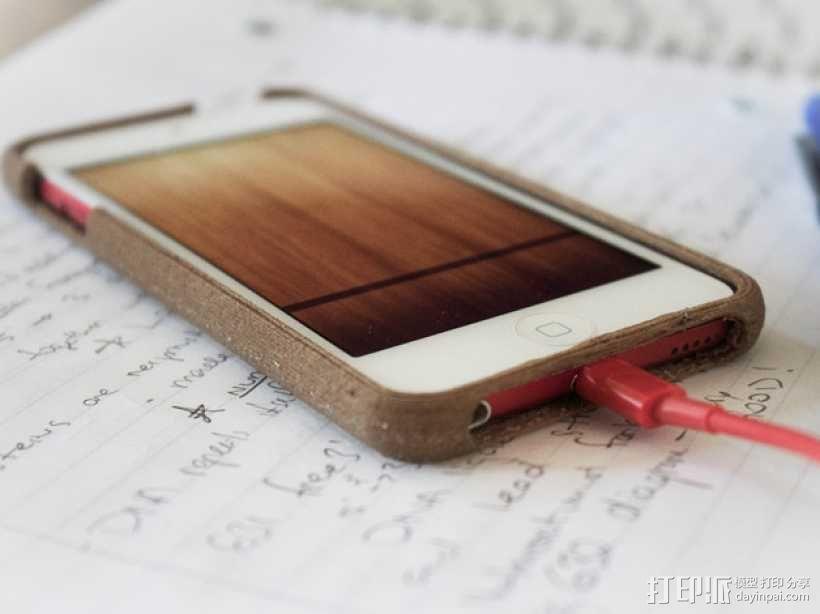 木质 iPod Touch保护壳 3D模型  图1
