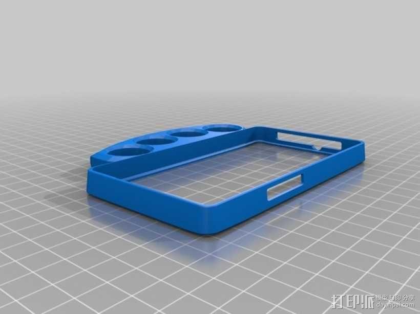 指节套环手机保护壳 3D模型  图1