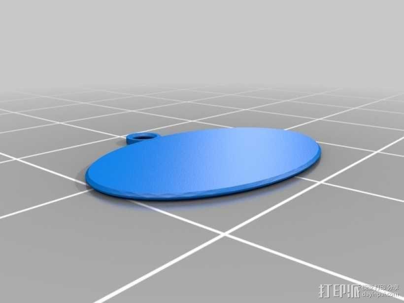 刺客标志钥匙坠 3D模型  图2