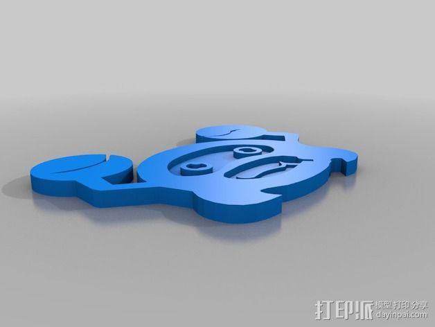 螃蟹标志 3D模型  图3
