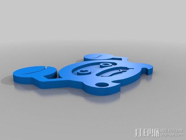 螃蟹标志 3D模型  图2
