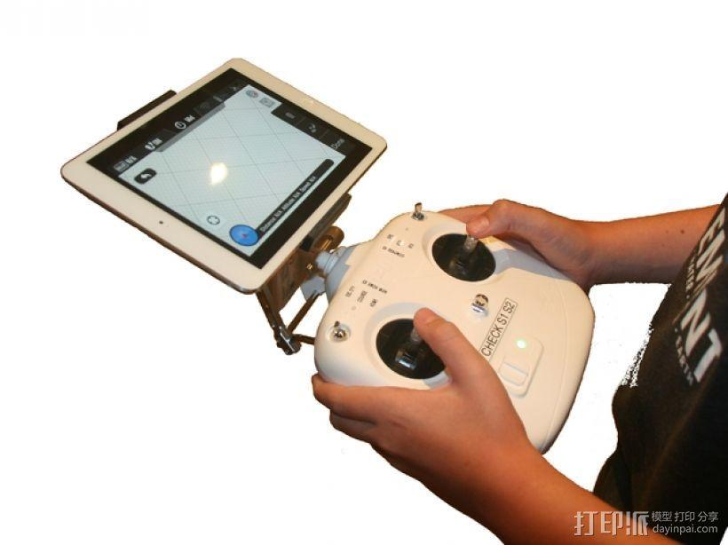 iPad mini 平板电脑遥控底座 3D模型  图1
