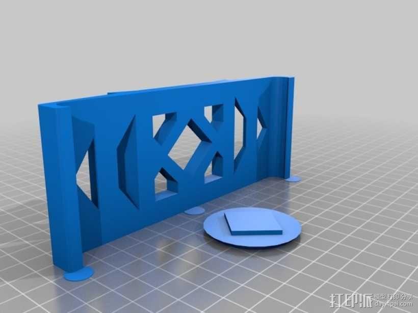 iPad mini 平板电脑遥控底座 3D模型  图3