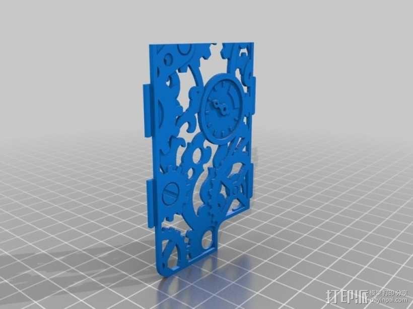 蒸汽朋克风格手机外壳 3D模型  图2