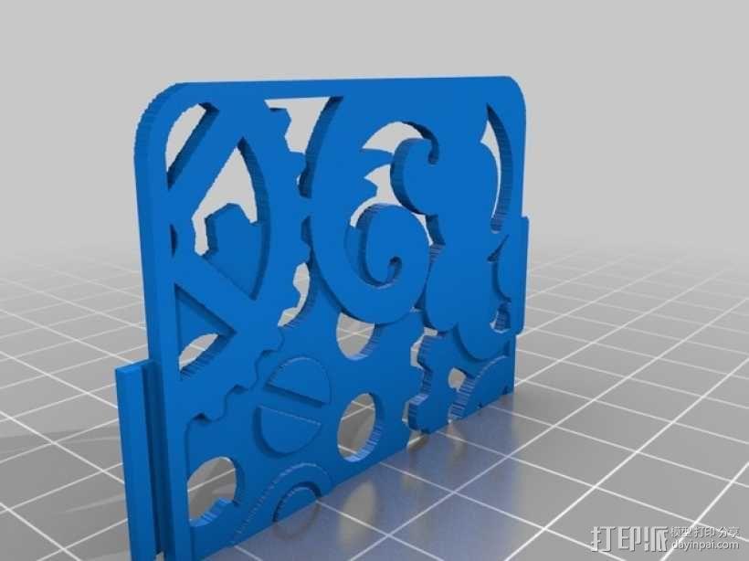 蒸汽朋克风格手机外壳 3D模型  图3