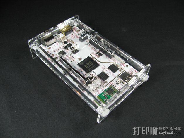 pcDuino3开源硬件保护盒 3D模型  图5