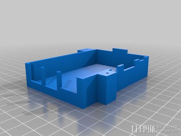 树莓派保护框 保护盒 3D模型  图2