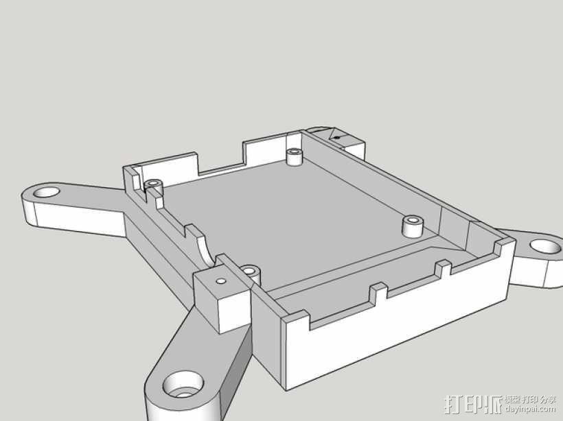 树莓派保护框 保护盒 3D模型  图1