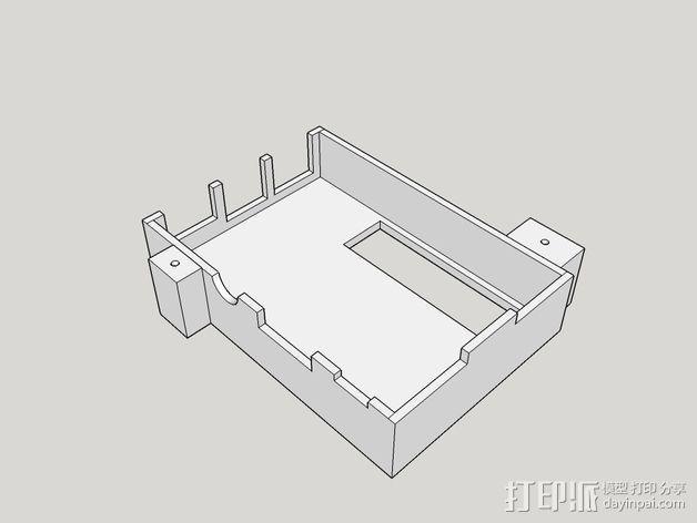 树莓派保护框 保护盒 3D模型  图6
