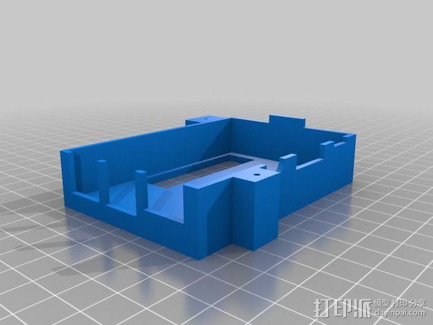 树莓派保护框 保护盒 3D模型  图3