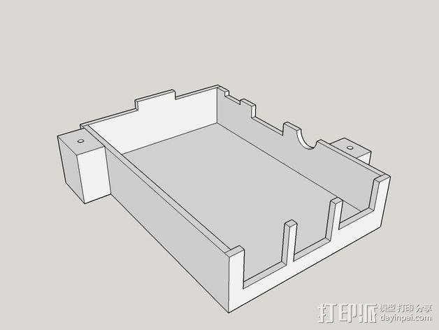 树莓派保护框 保护盒 3D模型  图5