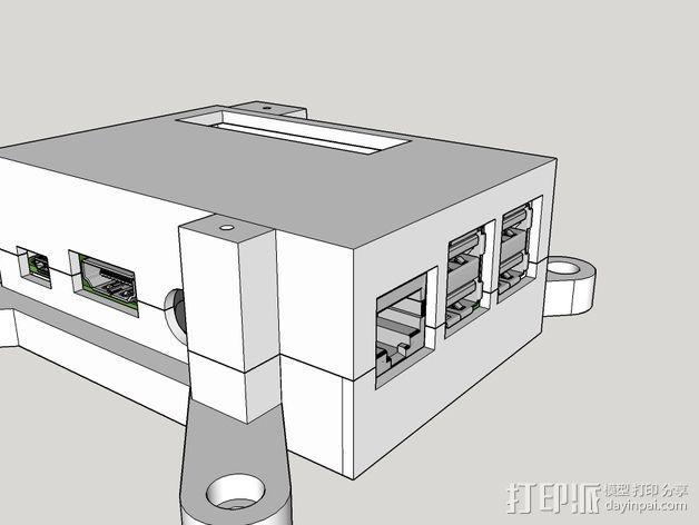 树莓派保护框 保护盒 3D模型  图7