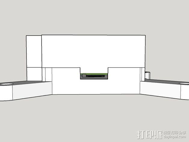 树莓派保护框 保护盒 3D模型  图11