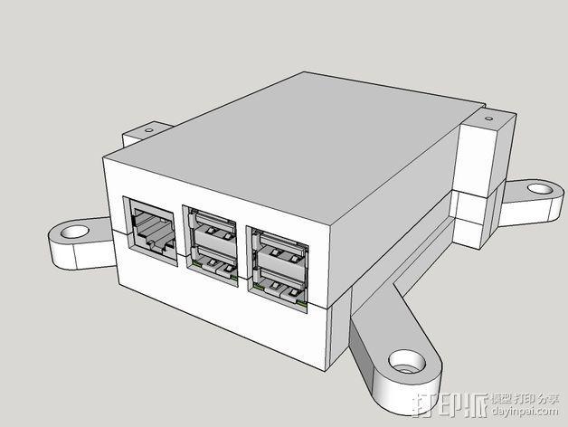 树莓派保护框 保护盒 3D模型  图9